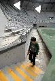 图文:奥林匹克公园网球中心竣工 赛场通道