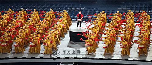 上海特奥会开幕式先睹,开场锣鼓表演