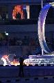 图文:世界夏季特奥会开幕式 主火炬被点燃