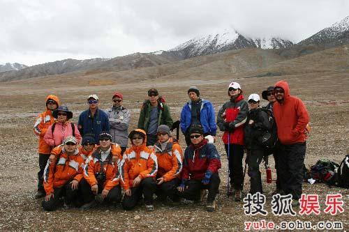 登山队员合影