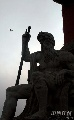 图文:击剑世锦赛主办地掠影 圣彼得堡街头雕塑