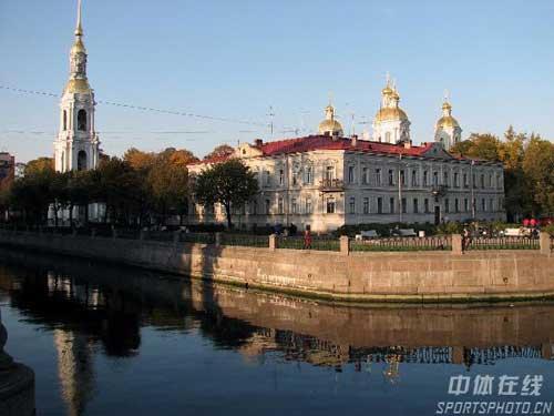 图文:圣彼得堡掠影 远眺喀山大教堂
