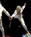 图文:[击剑]世锦赛男重半决赛 天外飞仙