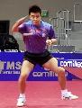 图文:乒乓世界杯中国首训 王皓认真训练