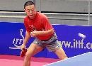 图文:乒乓世界杯中国首训 马琳严阵以待