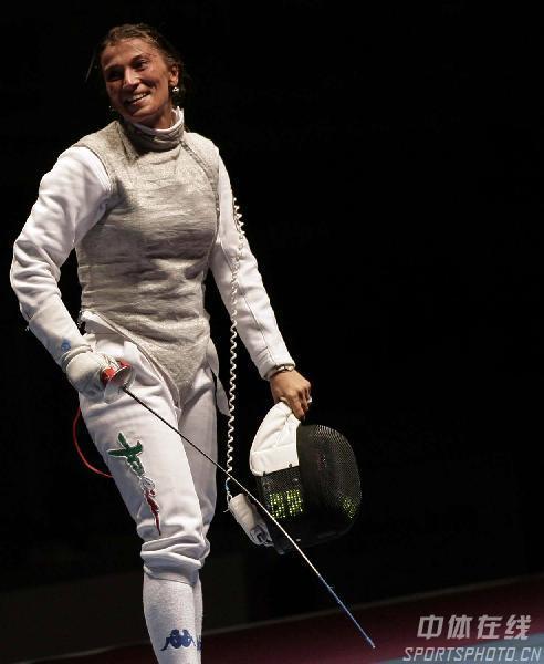 图文:击剑世锦赛女子花剑 玛格丽塔晋级决赛