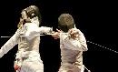 图文:[击剑]女花维扎利夺冠 反手一剑