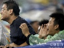 图文:[中超]天津泰达1-0山东 疯狂球迷