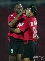 图文:[中超]北京国安0-1长春 埃尔维斯庆祝