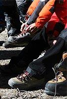 集体培训换高山靴
