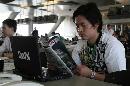 图文:[F1]中国站第二次练习 现场工作的记者