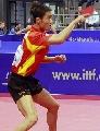 图文:中国男团VS俄罗斯 王励勤正手回球