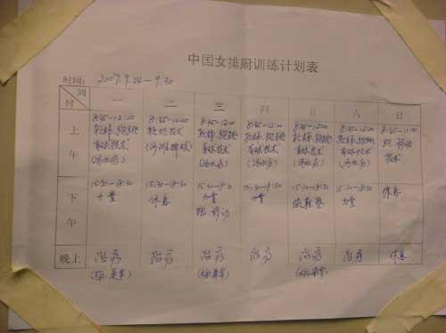 图文:[排球]女排十一训练忙 女排训练计划表