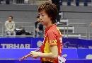 图文:中国女团首战告捷 张怡宁静对比赛