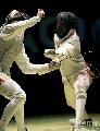 图文:[击剑]男花一剑憾负韩国 激烈交战中