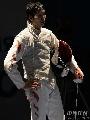 图文:[击剑]男花一剑憾负韩国 雷声难掩失望