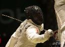 图文:[击剑]男花一剑憾负韩国 黄良财逼近对手