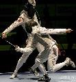图文:[击剑]男花一剑憾负韩国 黄良财避过一剑