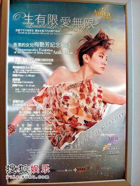 梅艳芳纪念展览海报