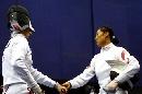 图文:击剑世锦赛团体赛 中国李娜负俄罗斯选手