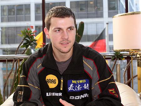 图文:德国乒乓球团体世界杯 波尔接受搜狐采访