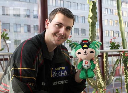 图文:德国乒乓球团体世界杯 波尔期待北京奥运