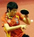图文:中国女乒3-0中国香港 郭跃回球凶狠无比