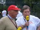 图文:[F1]中国大奖赛正赛 尼基-劳达与豪格