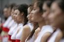 图文:[F1]中国大奖赛正赛 车模列队
