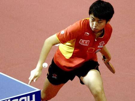 图文:乒球世界杯女团决赛 郭跃被评为赛事最佳