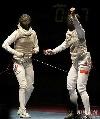 图文:[击剑]爱尔兰女花团体折桂 振臂宣告取胜