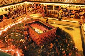 模拟的秦始皇的墓室 资料照片
