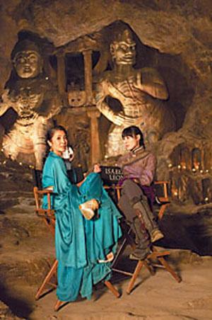 杨紫琼(左)和梁洛施