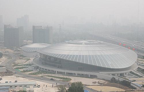 俯瞰体育馆 本文图片均由官方网站范帆射