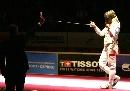图文:波兰获女花团体金牌 瑟尔维亚决赛得红牌