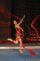 图: 快乐明星队尚华在跳带操 教练说线条很好呢