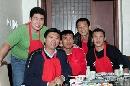 图文:赵蕊蕊生日聚会 李全强领队和几名队员