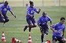 图文:巴西备战世界杯预选赛 小罗引入注目