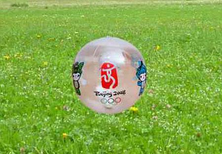 图文:奥运特许商品展示 35cm五福娃气球(透明)