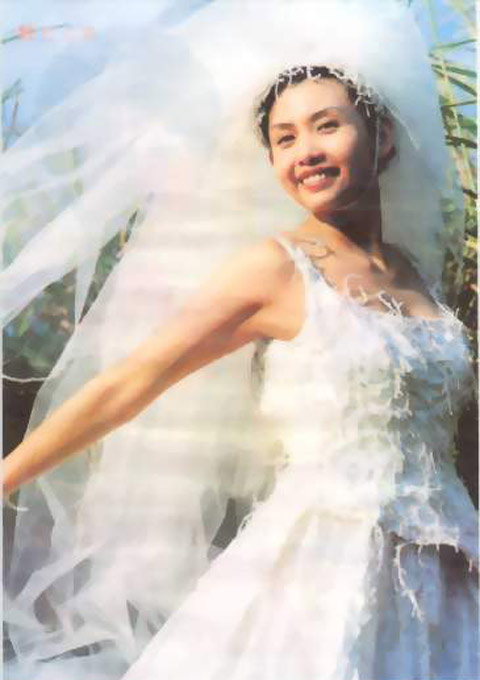 邱淑贞早期婚纱写真