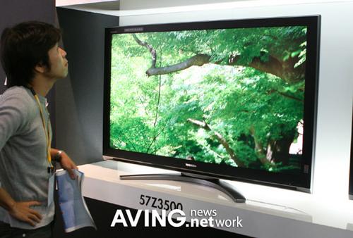 东芝韩国展出最新Z3500液晶电视