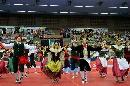 图文:乒乓球男子世界杯开幕式 比赛变歌舞盛会