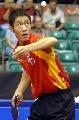 图文:[乒乓球]男乒世界杯第三轮 王励勤发球