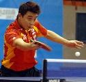 图文:[乒乓球]男乒世界杯第三轮 王皓巧妙回球