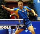 图文:[乒乓球]男乒世界杯第三轮 马琳大力扣杀