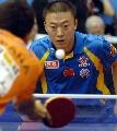 图文:[男乒]世界杯第三轮 马琳4-0西班牙选手