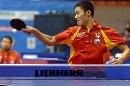 图文:[乒乓球]男乒世界杯第3轮 王励勤大力扣杀