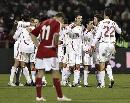 图文:[欧预赛]丹麦1-3西班牙 斗牛士欢庆胜利