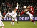 图文:[欧预赛]丹麦1-3西班牙 小白玩起倒勾