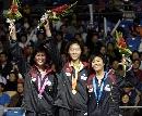 图文:国际羽球邀请赛女单 中国选手包揽前三名